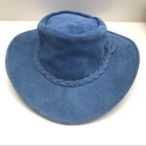 Australian Taz Hatz Traveler Suede Floppy Hat L